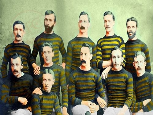 Aberdeen Football Club 1885-86 Team Photo - original B&W picture - No copyright - attached - Colorisation by Graeme Watson 2018