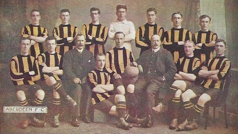 Aberdeen F.C. 1909-10 in colour - No copyright - attached