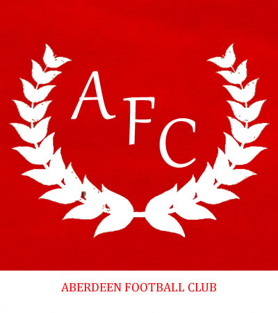 Aberdeen Football Club 1950's type Logo is used to convey the meaning intended and avoid tarnishing or misrepresenting the intended image - This version designed by Graeme Watson 2019 (Use of the logo here does not imply endorsement.)