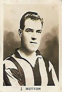 From Graeme Watson's personal collection, of Jock Hutton, Football Cards - original picture - No copyright - attached - Graeme Watson 2020.