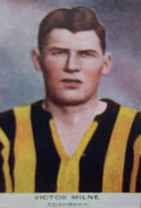 Victor Edmond 'Vic' Milne M.A. Football Card - No copyright - attached - Graeme Watson 2020.