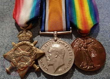 World War 1 - 3 Medals Grouped Together - Copyright © 2019 Graeme Watson.